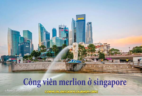 công viên merlion ở singapore