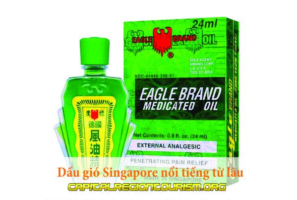 Dầu gió Singapore nổi tiếng từ lâu